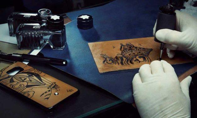 Montblanc & Samsung. Piel Tattoo para el Galaxy S6 Edge