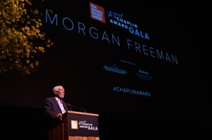 02.--Recipient-of-the-43rd-Chaplin-Award-Morgan-Freeman-on-stage---©-GettyImages