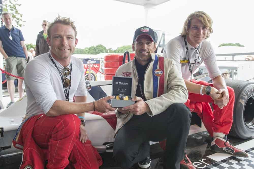 Patrick Dempsey, Freddie Hunt y Jenson Button