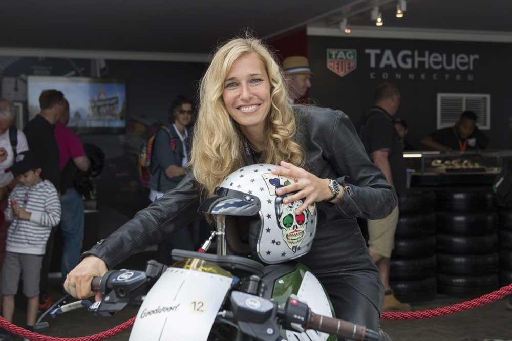Sabine Holbrock, amiga de TAG Heuer