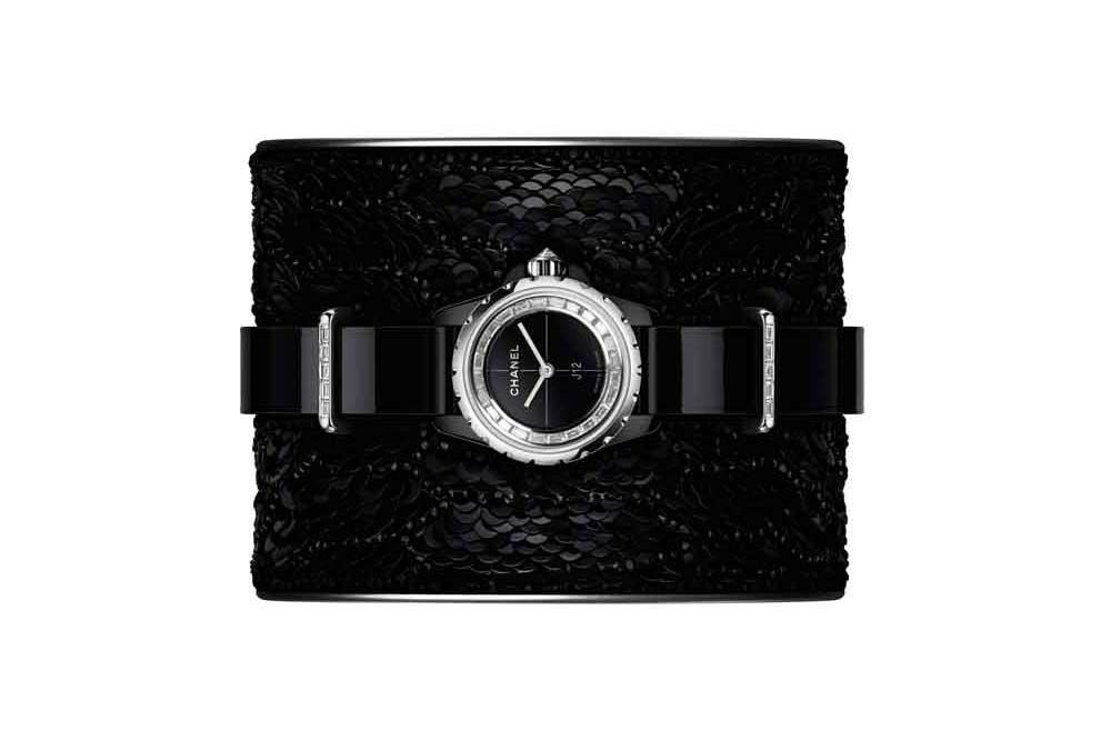 Chanel J12 XS Watch Black Lesage Cuff