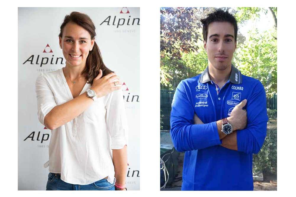 Alpina Watches Nastasia Noens y Victor Muffat-Jeandet