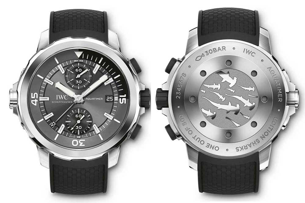 IWC Aquatimer Chronograph Edition Sharks detalle
