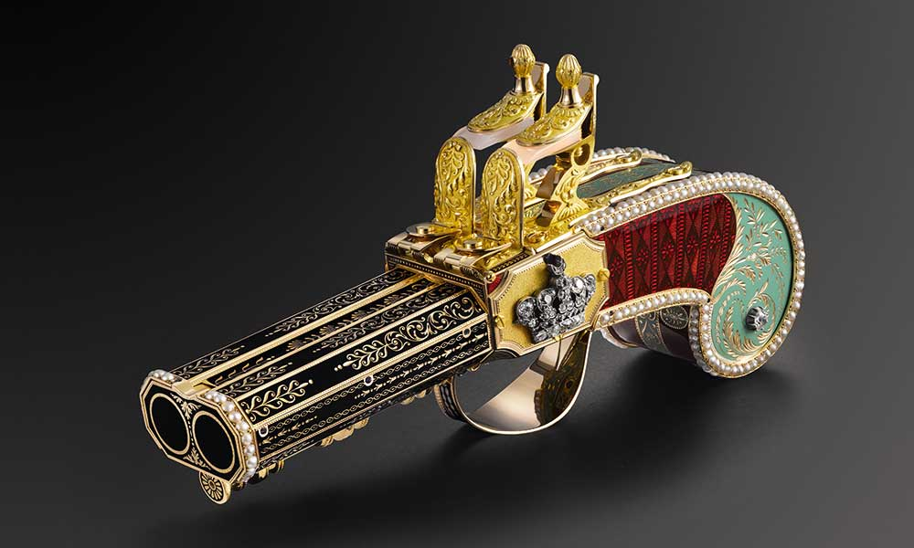 Parmigiani Pistola con pájaro cantor