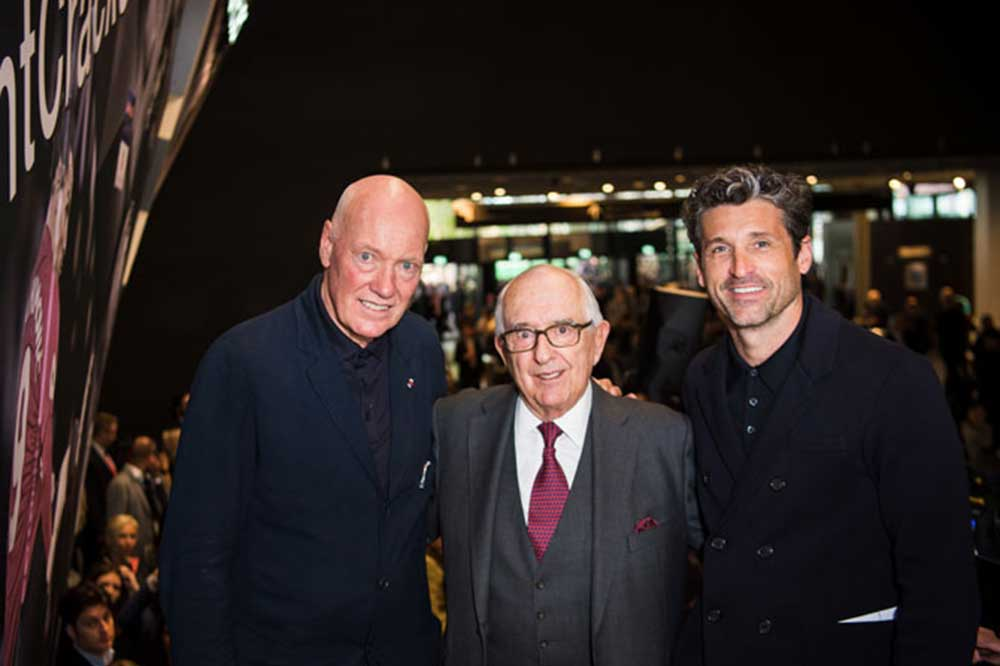 Jack Heuer, Jean-Claude Biver y Patrick Dempsey