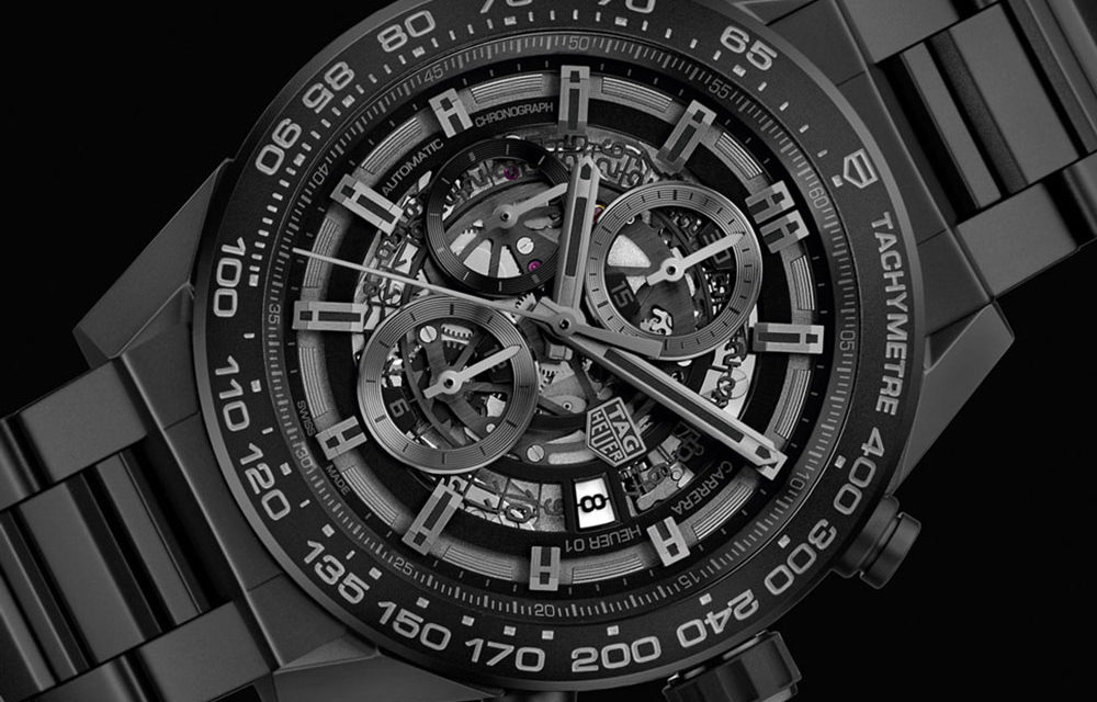 Baselworld 2017: TAG Heuer Carrera Heuer 01 Full Black Matt Ceramic