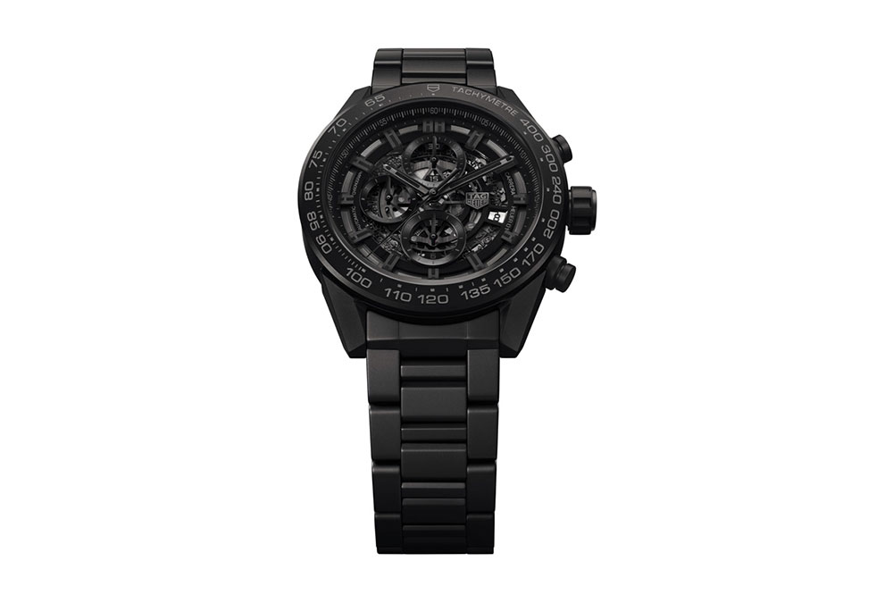 TAG Heuer Carrera Heuer-01 Full Black Matt Ceramic front
