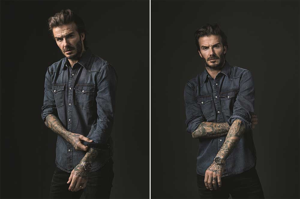 TUDOR y David Beckham con Black Bay S&G