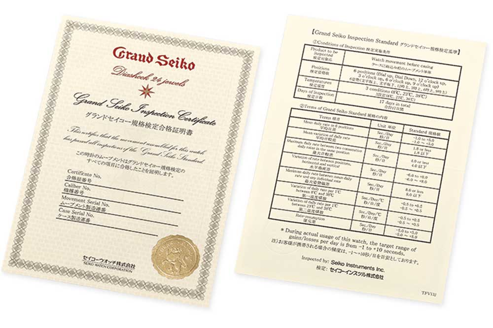 Grand Seiko modelo SBGW253G Certificado