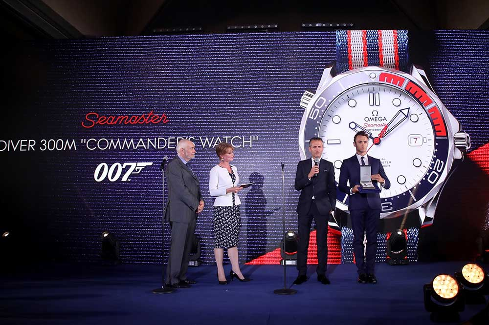 "Presentación Omega Seamaster ""Commanders Watch"" James Bond"