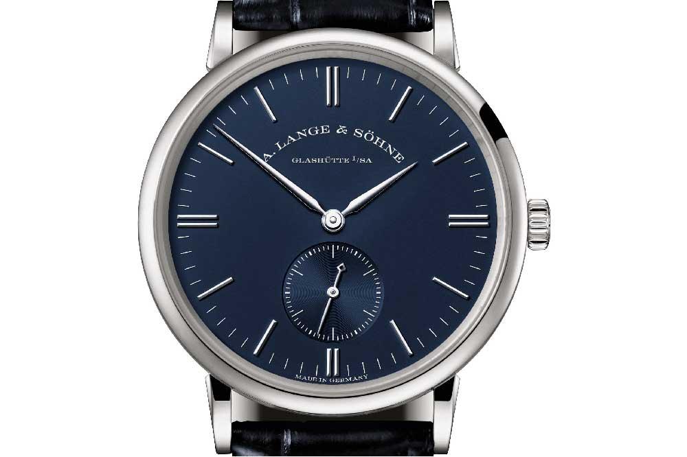 A. Lange & Söhne Serie Azul Saxonia, detalle esfera