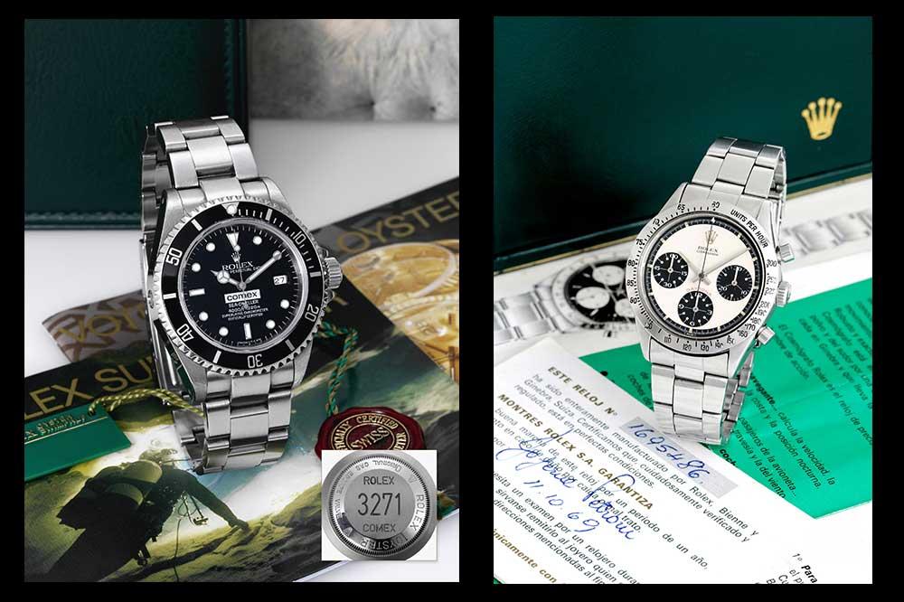 Rolex Cosmograph y Rolex Sea Dweller