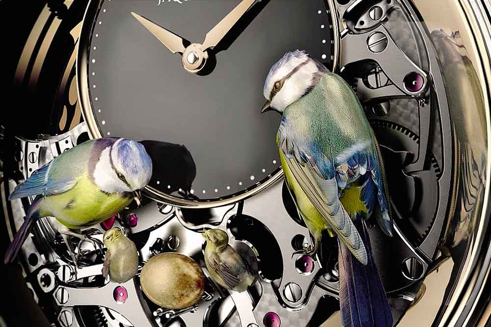 Jaquet-Droz The Bird Repeater, detalle esfera