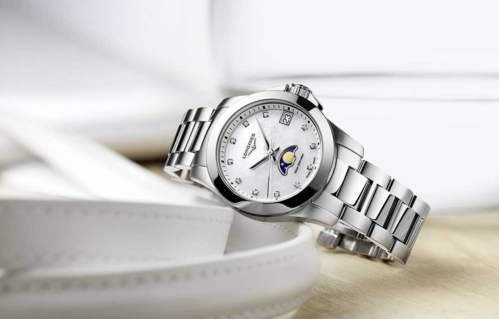 Longines Conquest Moonphase Ladies, elegancia deportiva