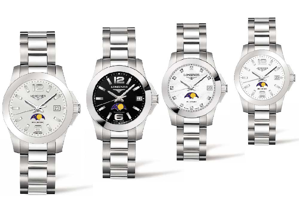 Longines Conquest Moonphase Ladies, versiones