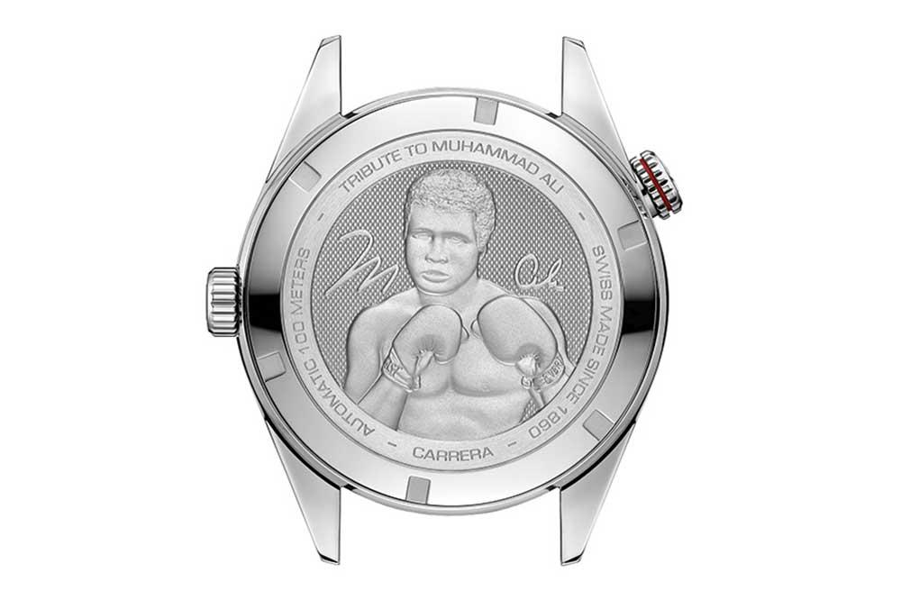 TAG Heuer Carrera edición especial Muhammad Ali, detalle fondo