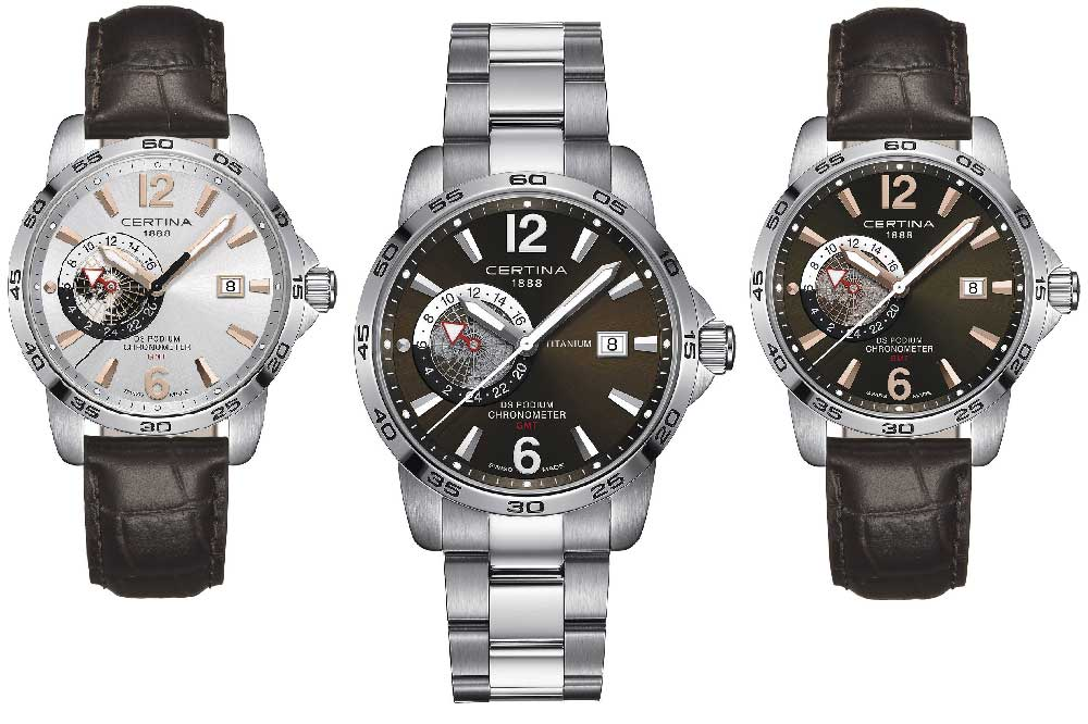 Certina DS Podium GMT Chronometer, versiones