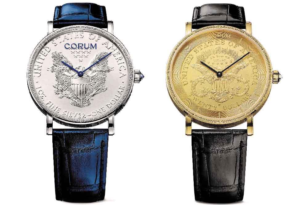 Corum Coin Watch esfera dólar y Double Eagle