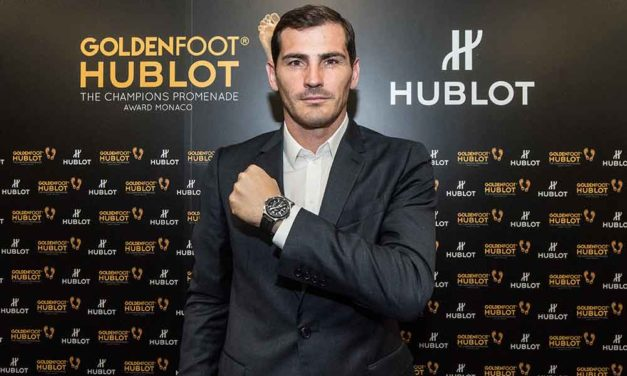 Iker Casillas, ganador del premio Hublot Golden Foot