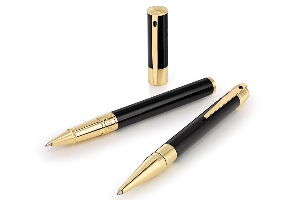 S.T. Dupont D-Initial, negro y dorado