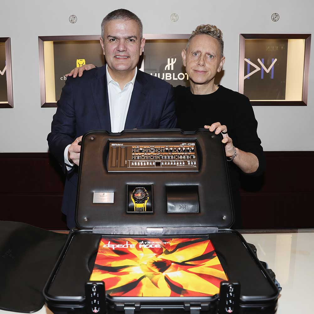 "Presentación Hublot Big Bang Depeche Mode ""The Singles"" Limited Edition, Ricardo Guadalupe y Martin Gore"