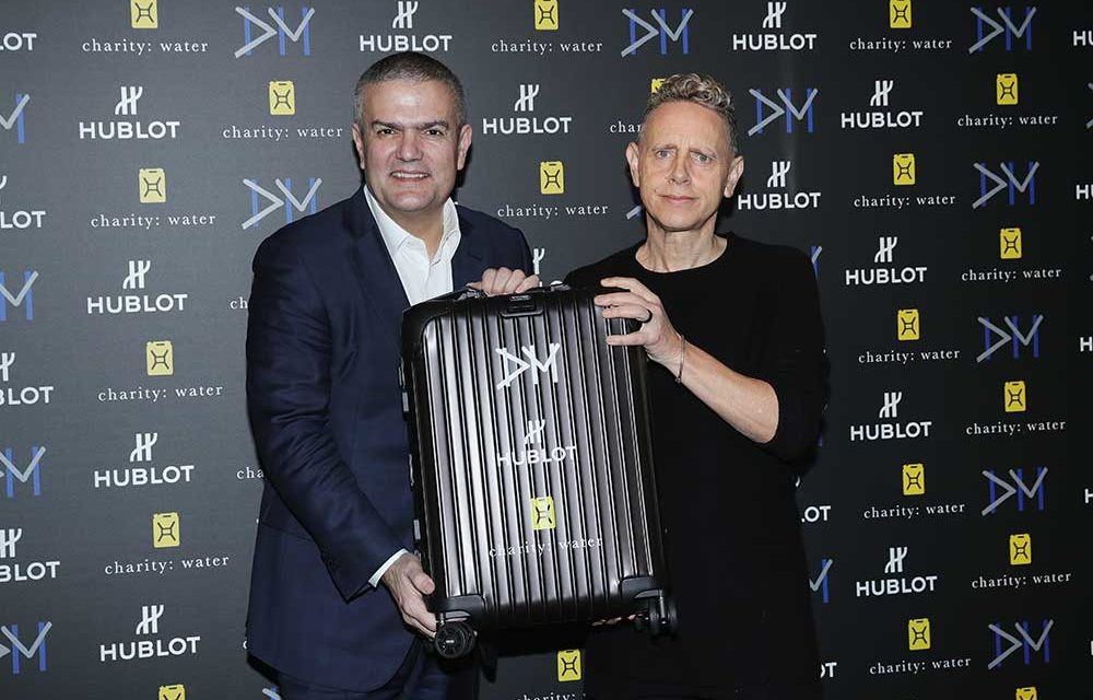Hublot, Rimowa y Depeche Mode con charity: water