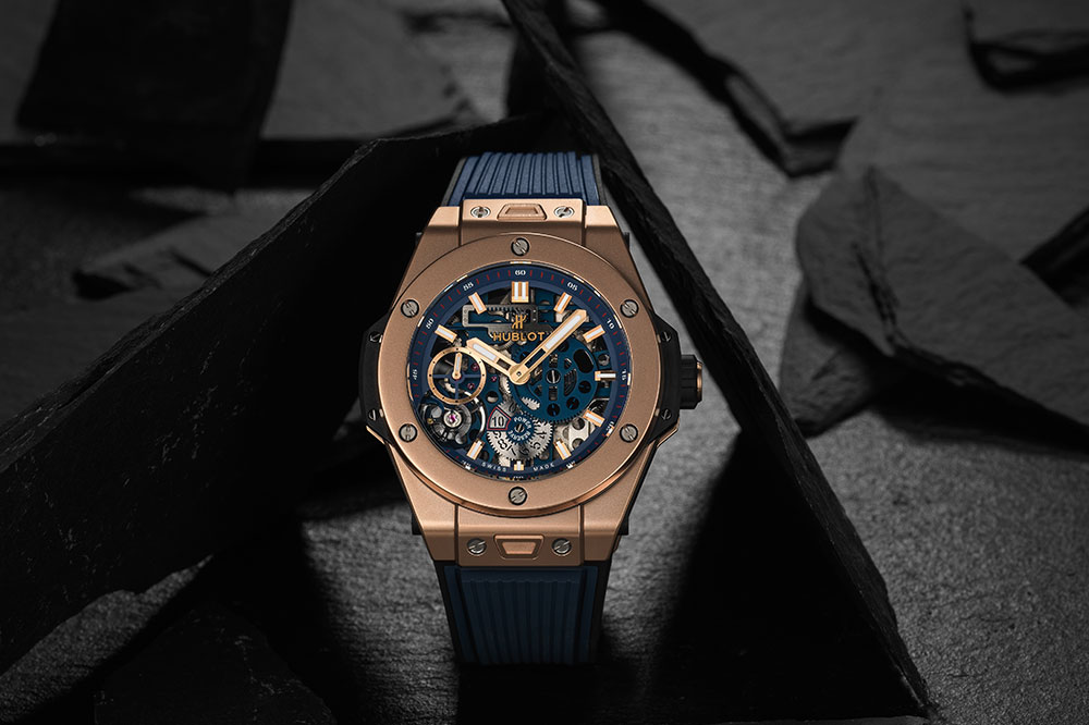 Hublot Big Bang Meca-10 King Gold Blue