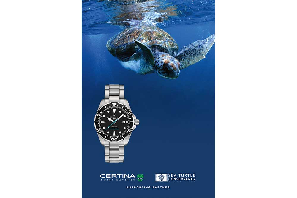 Certina DS Action Diver Sea Turtle Conservancy, promoción
