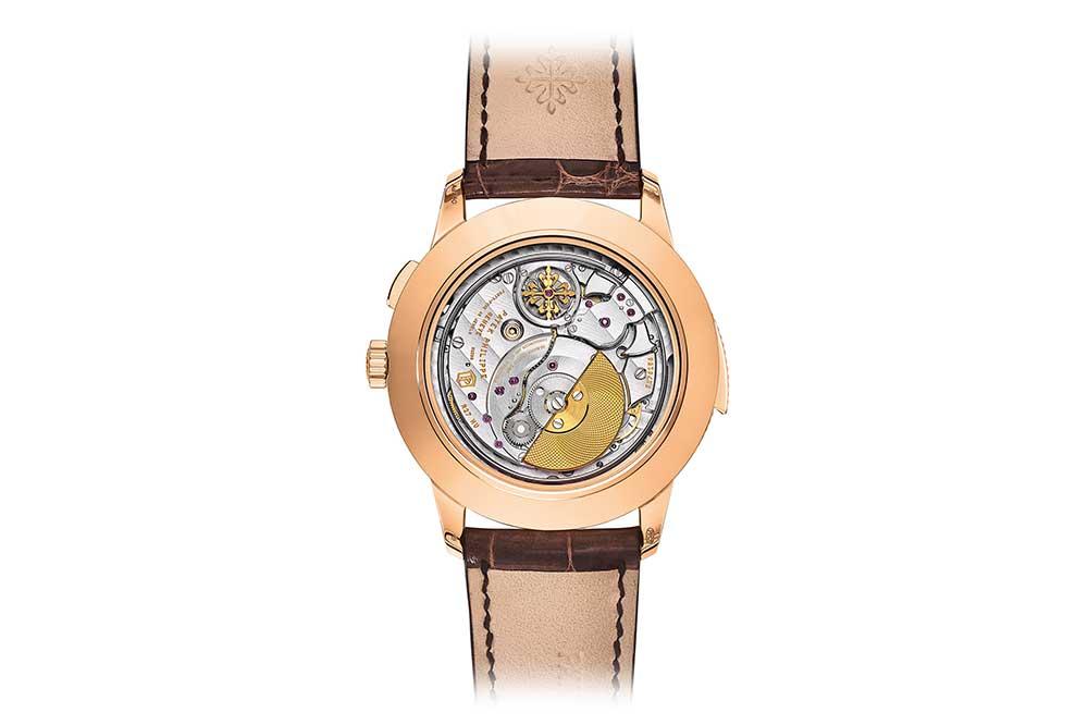 Patek Philippe World Time Minute Repeater Ref. 5531R, detalle fondo