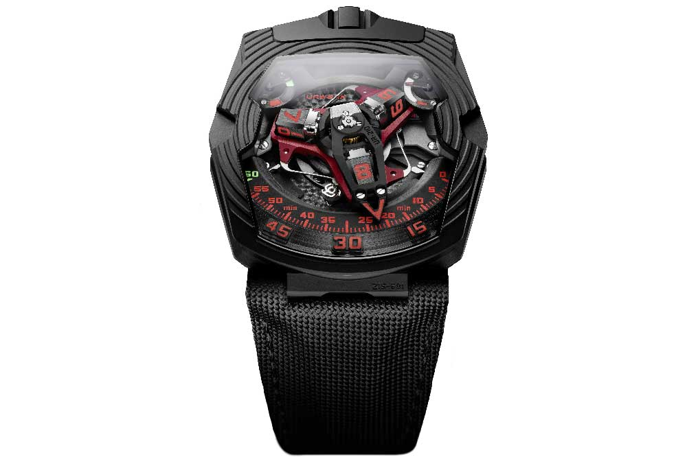 Urwerk UR-210 Royal Hawk Black Platinum