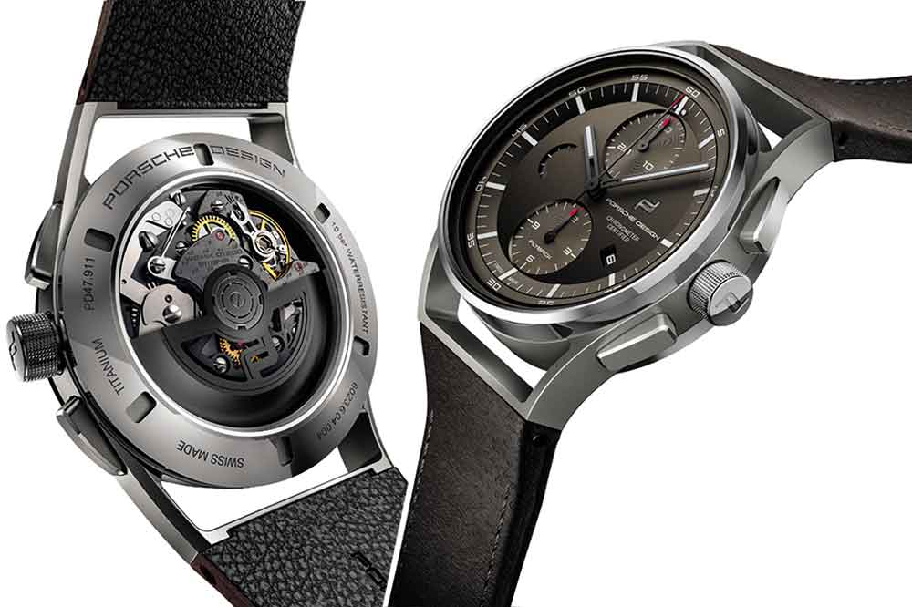 Porsche Design 1919 Chronotimer Flyback Brown & Leather, detalles
