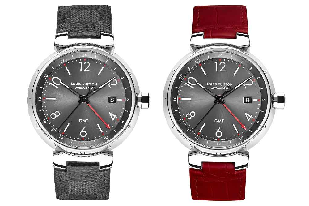 Modelo Louis Vuitton Tambour Essential Grey GMT