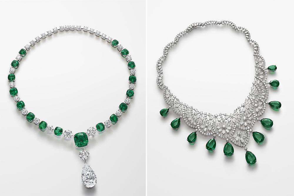 Chopard colección Red Carpet 2018, collares de esmeraldas y diamantes