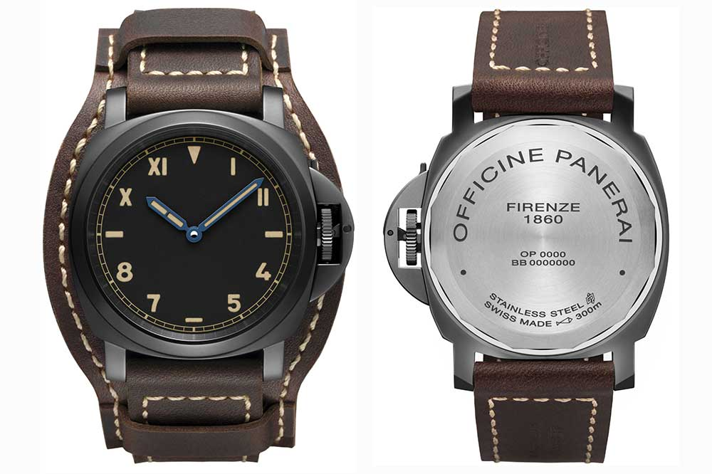 Panerai Luminor California 8 Days DLC, vistas frontal y trasera