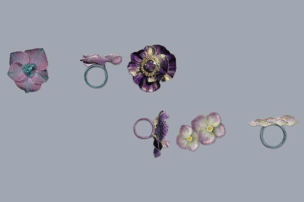 Boucheron Les Éternelles, Anémona y Hortensias