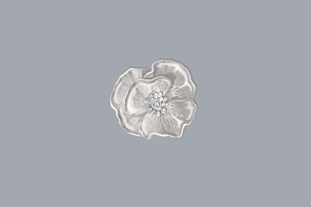 Boucheron Nature Triomphant, Broche Fleur De Pluie