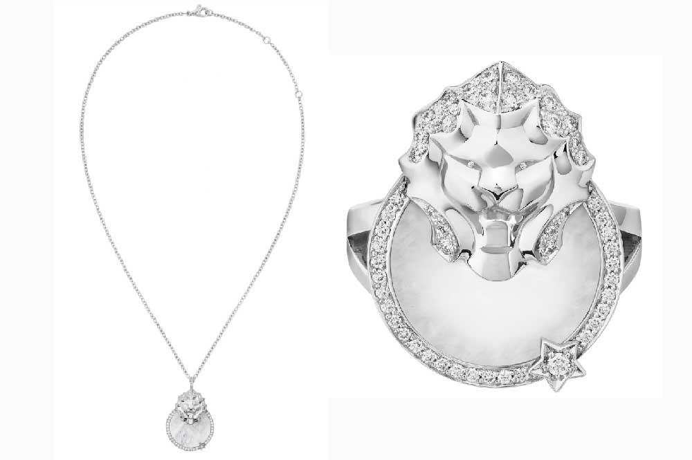 Chanel Colección Sous le Signe du Lion, lion Médaille oro blanco