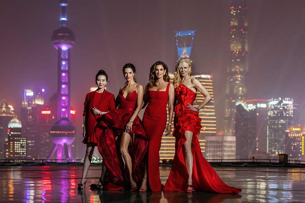 Cindy Crawford, Nicole Kidman, Alessandra Ambrosio y Liu Shishi