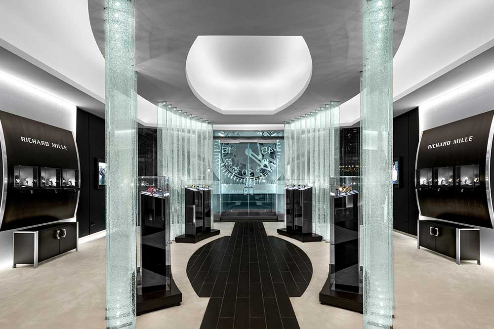 Boutique Richard Mille en Manhattan, vista interior