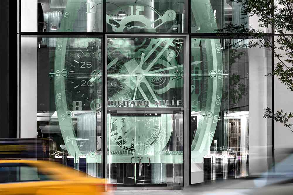 Boutique Richard Mille en Manhattan, detalle fachada