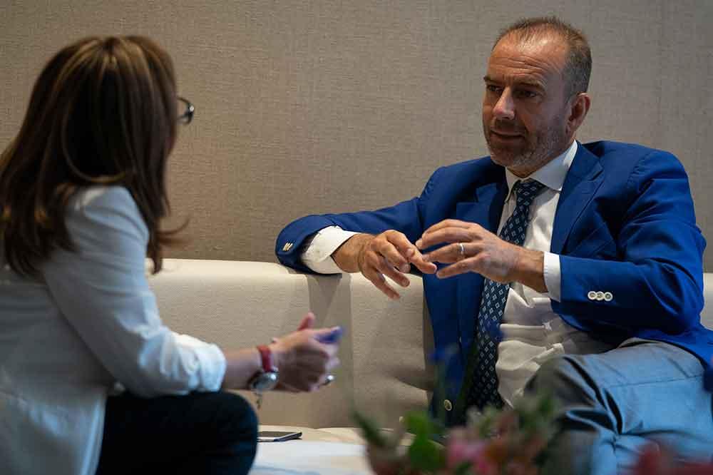 Mario Peserico y Paloma Recio