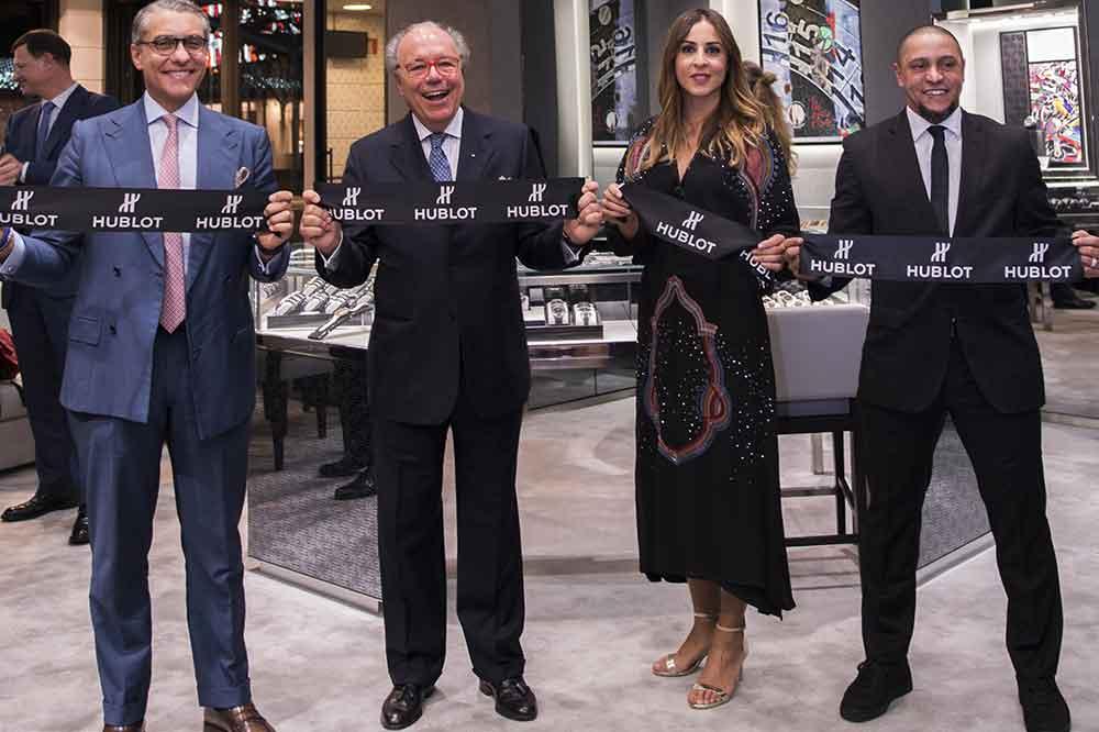 Inauguración Boutique Hublot Madrid, corte de banda
