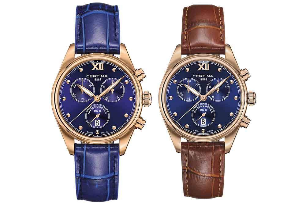 Certina DS-8 Lady Chronograph, versiones