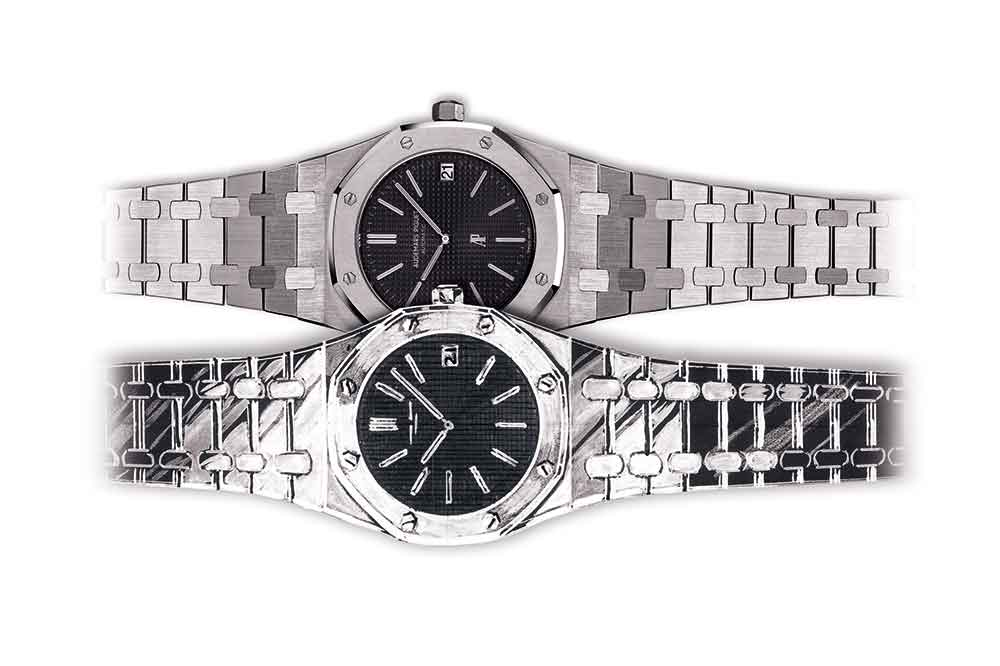 Audemars Piguet Royal Oak, sketch modelos 1972