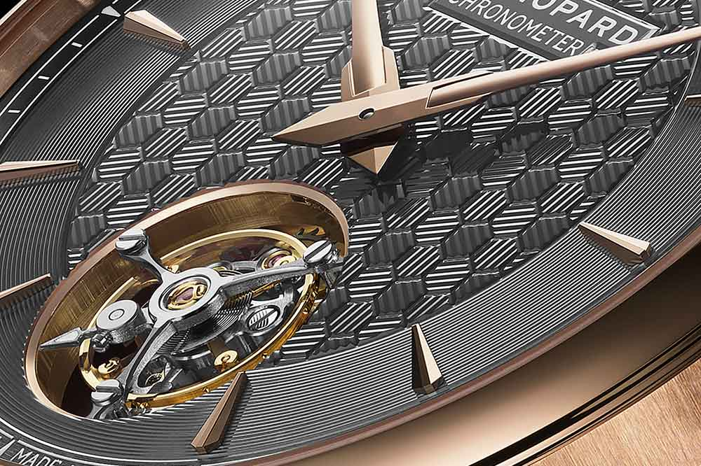 Chopard L.U.C Flying T Twin, detalle esfera
