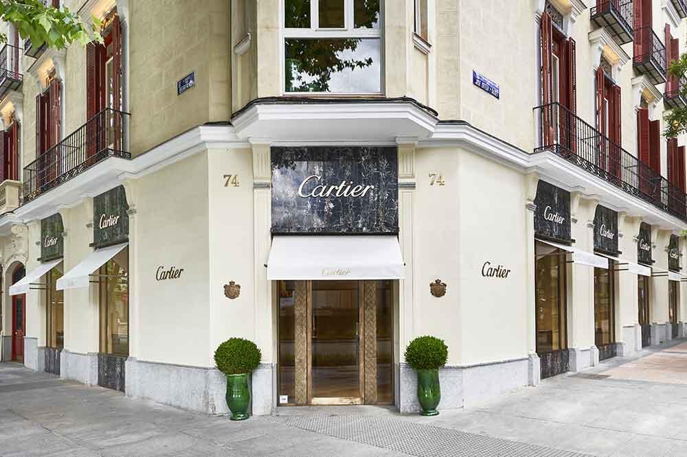 Boutique Cartier en calle Serrano, 74. Fachada