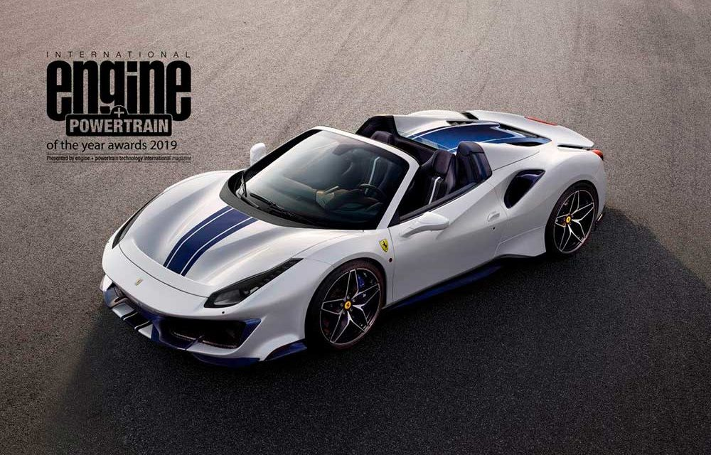 El Ferrari V8 se lleva una vez más el Engine & Powertrain of the Year.