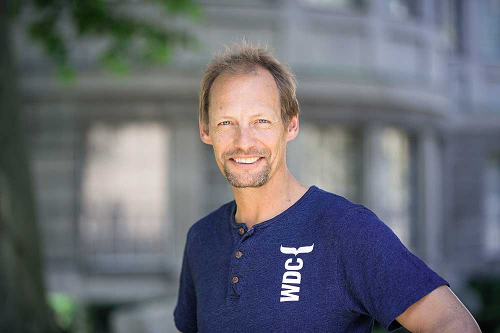 Fabian Ritter, biólogo marino de la Whale and Dolphin Conservation (WDC)