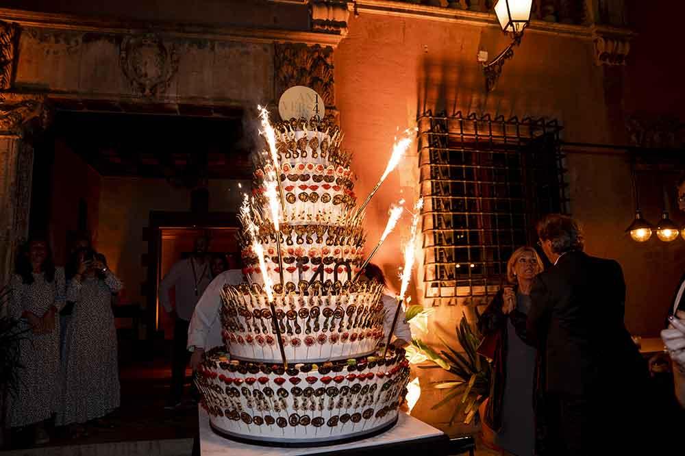 Tarta de aniversario realizada por Escribá Barcelona