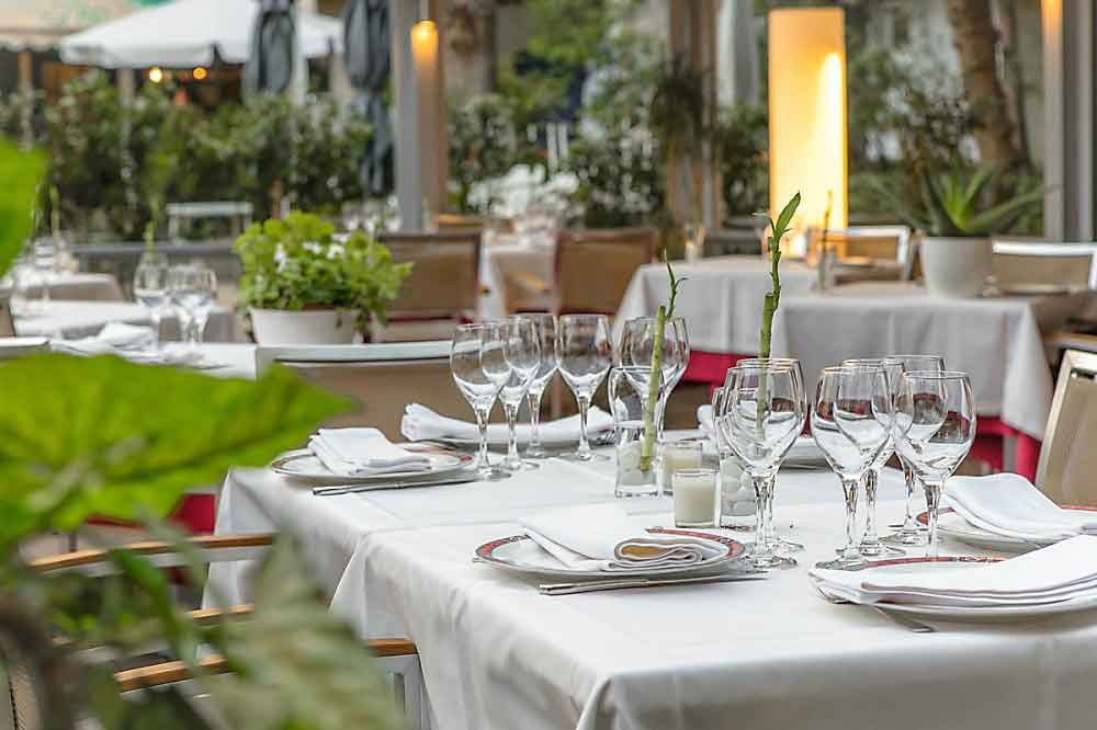 OX's Restaurante, terraza